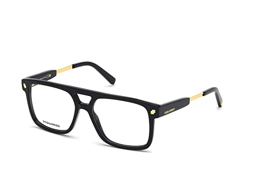 DSQUARED2 Gafas anteojos DQ5268 001 marco negro de plástico ...