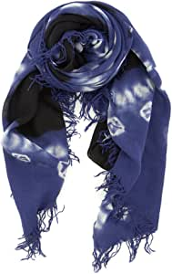 Chan Luu Patriot Blue Cashmere and Silk Tie-Dyed Scarf