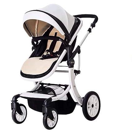 El cochecito de bebé, se puede sentar reclinablemente plegable, se ...