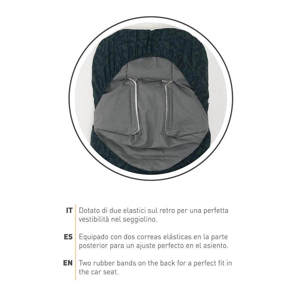 0-6 Meses Saco Carrito Bebe Universal Compatible con Asientos de Coche Grupo 0-80cm x 45cm T/érmico Impermeable a Prueba de Viento Mantiene Bebes C/álidos hasta 5/° Nuvita 9245 Ovetto Buggy