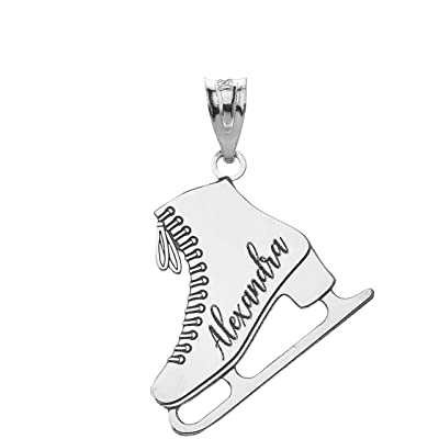 Crystal Jewelry Sports Gifts for Men Ice Skate Necklace College Charms Gifts