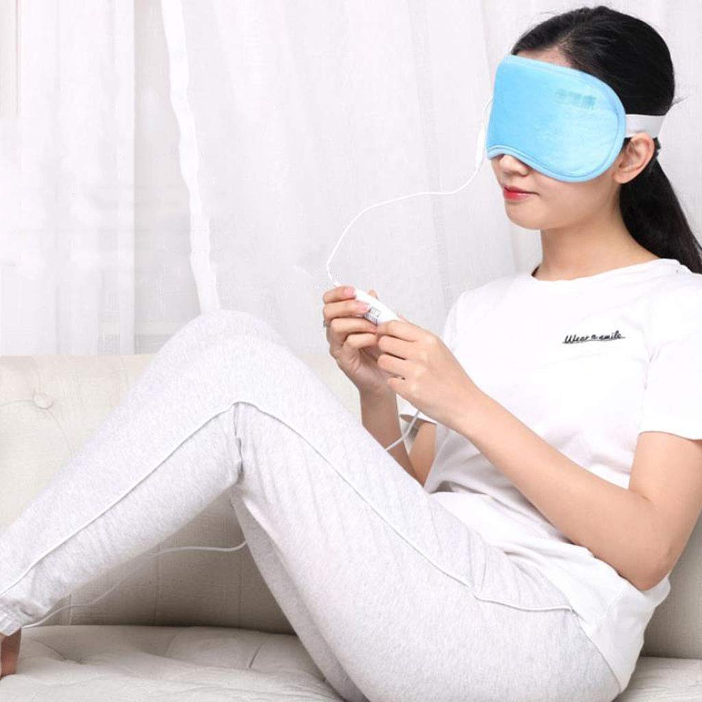 Heated Eye mask Eye Massage Instrument Eye Protector Vision Dark Circles Eye Bags to Soothe Fatigue Relieve Thermal mask (Color : Blue, Size : 2411cm/94inch) by Eye Protection Accessories (Image #4)