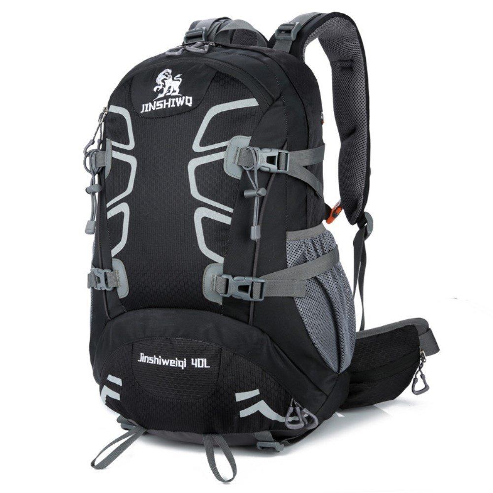 noir  BNN Sac d'alpinisme extérieure imperméable à l'eau Unisexe Sac de Voyage de Camping résistant à l'usure