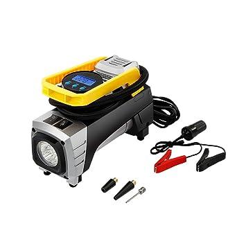 Compresor de Aire Portátil con Auto Inflador de neumáticos metálico Medidor de Neumáticos Digital Fusible de
