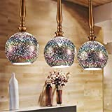 CAC 3D LED pendant lights glass for dining room Kitchen acrylic suspension hanging ceiling lamp luminaire suspendu pendant lamps