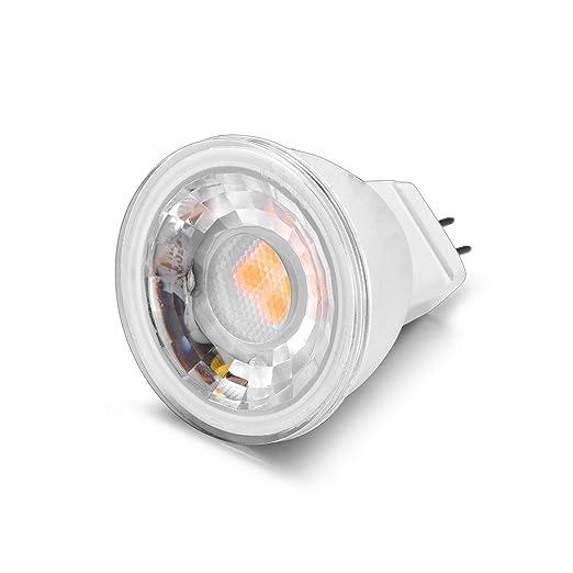 Wowatt 6x Bombillas LED MR11 GU4 4W Sin parpadeos AC DC 12V Blanco Cálido 2700K Mini