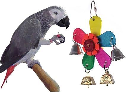Madera Pájaro Masticar Juguete Para Loros Periquitos Cacatúas Conure Agaporni Jaula Accesorios A Mascotas