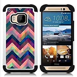 For HTC ONE M9 - iridescent pink purple blue Dual Layer caso de Shell HUELGA Impacto pata de cabra con im??genes gr??ficas Steam - Funny Shop -