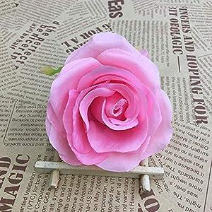 XGM GOU 10Pcs/Lot DIY Rose Artificial Flower Heads Bride Bouquet Silk Flower Wedding Arch Flower Arrangement Accessories 8.5Cm Dia 3