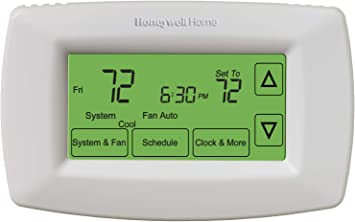 Honeywell Home RTH7600D 7-Day Programmable Touchscreen Thermostat, White