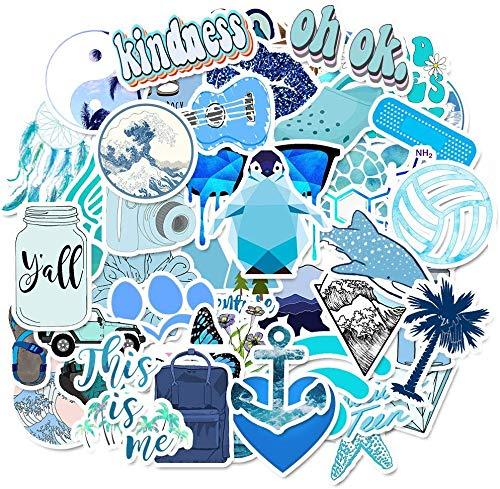 Mlian Autocollant pour Bouteilles deau 50 pcs Stickers pour Ordinateur Portable Stickers imperm/éables Pack Autocollants esth/étiques Mignons pour Adolescentes Filles