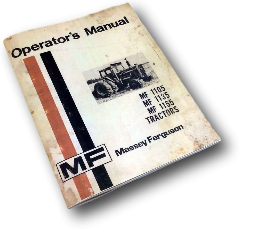 Amazon.com: Massey Ferguson Mf 1105 1135 1155 Tractors Operators Owners  Manual Maintenance: Industrial & Scientific