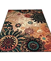 MeMoreCool Fashion Home,Designer Boho Retro Style Living Room Floor Carpets,Colorful Upscale Home Decoration Mats,Elegant Washable Bohemia Rugs