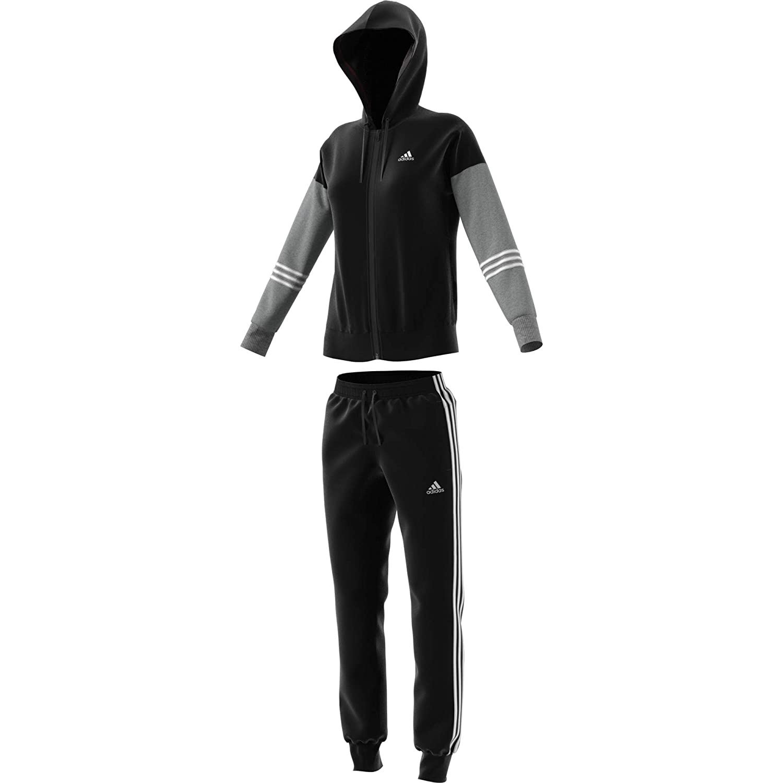 Noir Medium gris heather blanc adidas WTS Co Energize Survêtement Femme L