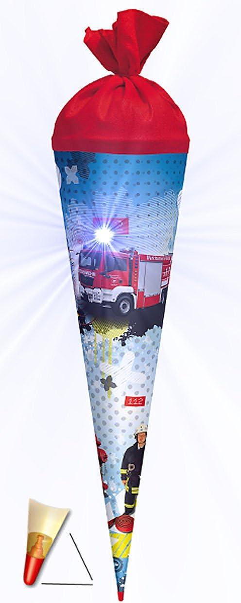 Unbekannt personalisierte 3D B/änder passend f/ür 3-D Schult/üte Schleife Feuerwehr mit Licht Effekt mit Holzspitze 70 // 85 cm Roth mit Holzspitze f/ür Jungen Auto Rettung