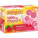 Emergen-C (Raspberry Flavor) Dietary Supplement Drink Mix With 1000mg Vitamin C, 0.32 Ounce Packets, Caffeine Free - Multipack of 3 (90 count) ICV$D