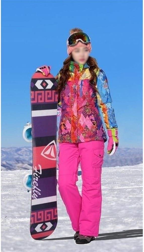 Sceliny 女性のためのスキースーツ防水防風透湿性アウトドアマウンテンスポーツスーツの冬は、女性のパンツとジャケットスーツ厚く (色 : Jacket rose Pants, サイズ : S) Jacket rose Pants Small