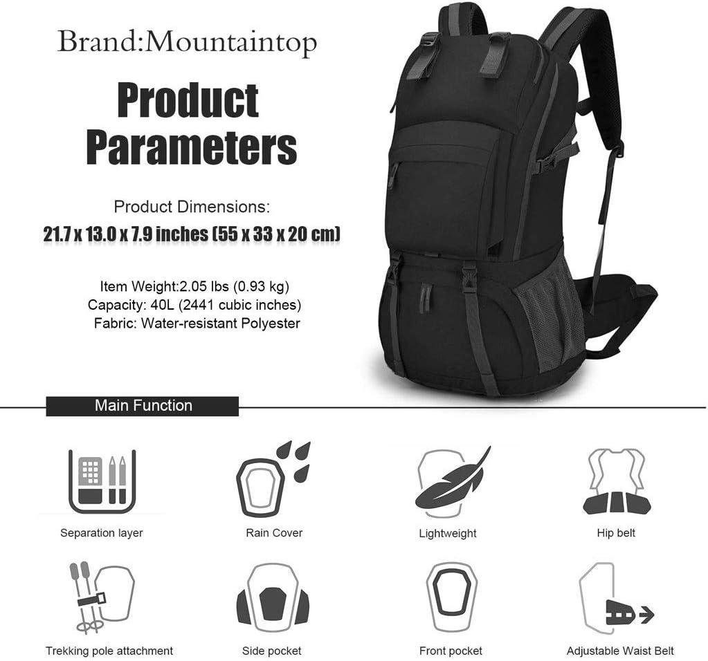 Blingstars Viaggi Laptop Backpack Impermeabile E Traspirante Zaino, Maschio E Femmina Viaggi Arrampicata Zaino, Zaini Scalable Pieghevoli (Color : B) A kAMdC