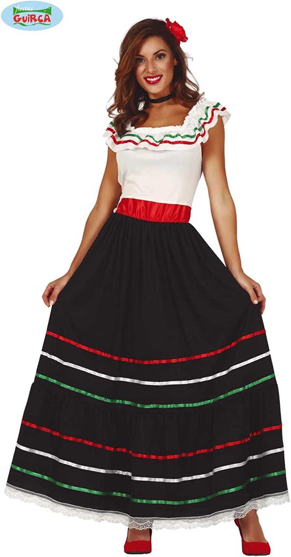 Guirca 86591 Disfraz Adulta Mejicana Talla M 38-40, Mujeres ...
