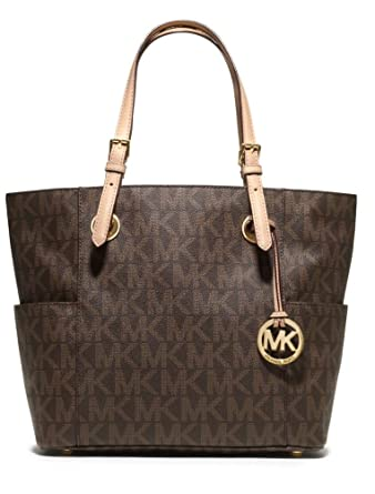 MICHAEL Michael Kors Signature Tote, Brown, one size  Handbags ... 53516443e6