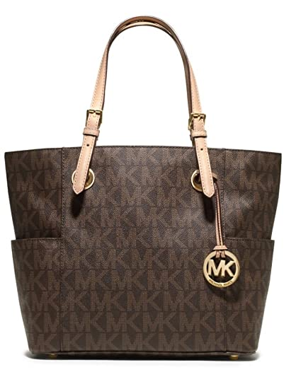 michael michael kors signature tote brown one size handbags rh amazon com