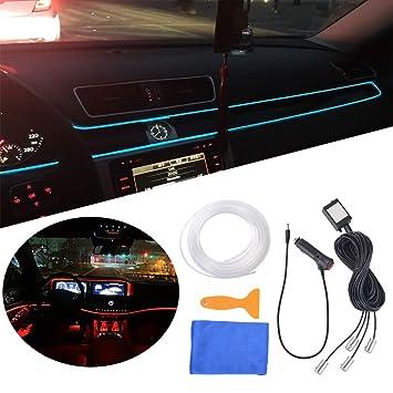 XCSOURCE - Tira de luces LED para interior de coche, 6 m, luz de