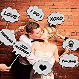 Wedding Photo Booth Props, Dry Erase Bubble Speech Photo Booth Props Attached to the stick, Wedding decorations, Birthday party photo props, 4E's Novelty®