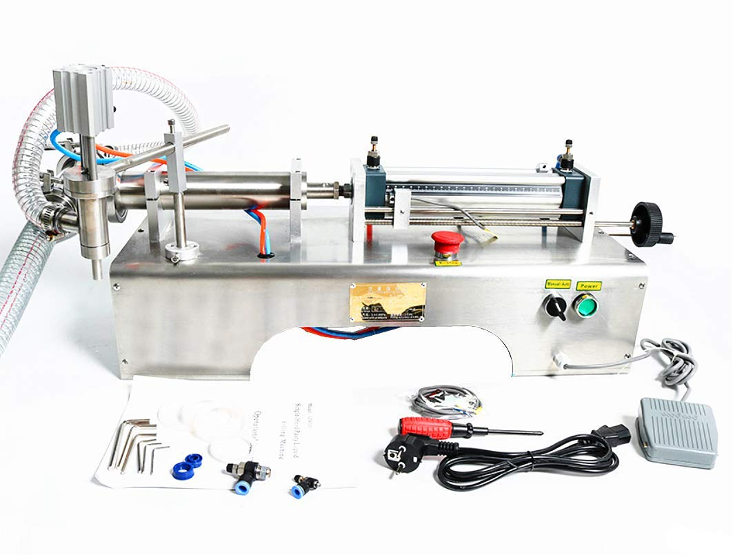 KUNHEWUHUA Pneumatic Liquid Water Oil Filling Machine 1000-5000ml Single Nozzle 110V/220V by KUNHEWUHUA (Image #2)