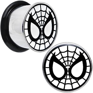 Marvel Comics Officially Licensed Steel Black White Spiderman Mask