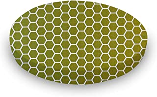 product image for SheetWorld Fitted Oval Crib Sheet (Stokke Sleepi) - Sage Honeycomb - Made In USA