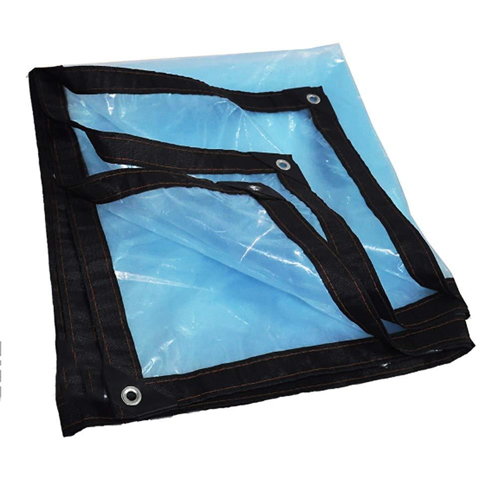 QRFDIAN Bordo in plastica Trasparente Spesso Bordatura Antipioggia Resistente alla Pioggia e alla Pioggia (Dimensioni   2×8M)