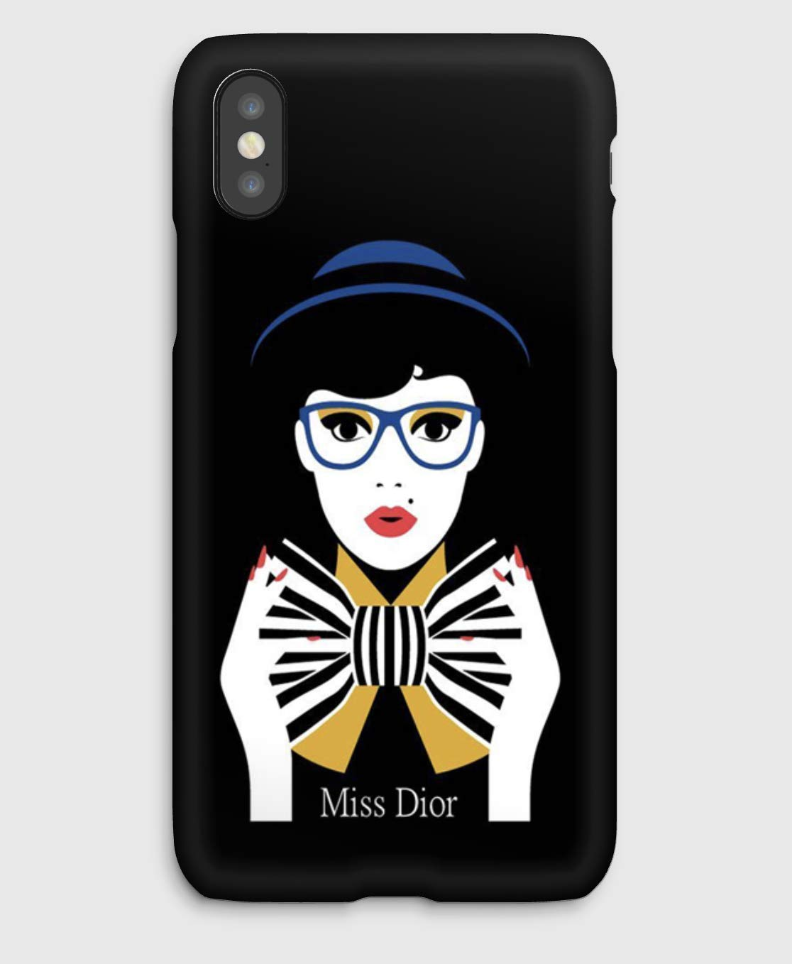 Miss Dior, coque pour iPhone XS, XS Max, XR, X, 8, 8+, 7, 7+, 6S, 6, 6S+, 6+, 5C, 5, 5S, 5SE, 4S, 4,