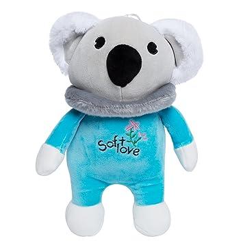 Koala de Peluche Suave Muñeca Juguete 28cm, Color Azul, Regalo de Navidad para el