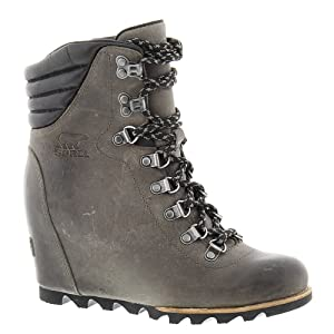 Sorel Women's Conquest Wedge Booties, Quarry, 9 B(M) US