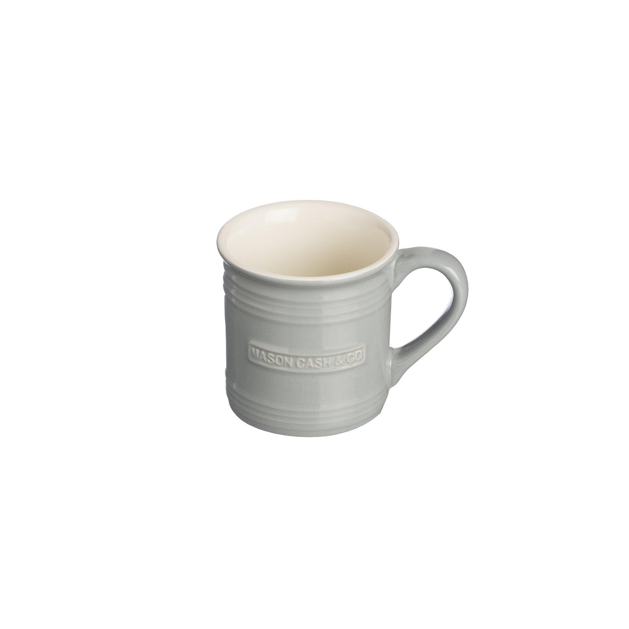 Mason Cash Original Stoneware Espresso Mug, 4-Fluid Ounces, Grey