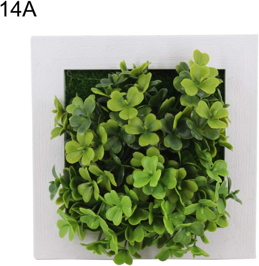 Le yi Wang You Fleurs Artificielles Assorties Ensemble De Faux Feuillage Suspendu D/écoratif 1A Plantes Murales Et Plantes Succulentes dans des Cadres en Bois
