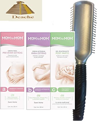 Amazon Com Mom To Mom Crema Set De Tres A 6 Meses De Embarazo B