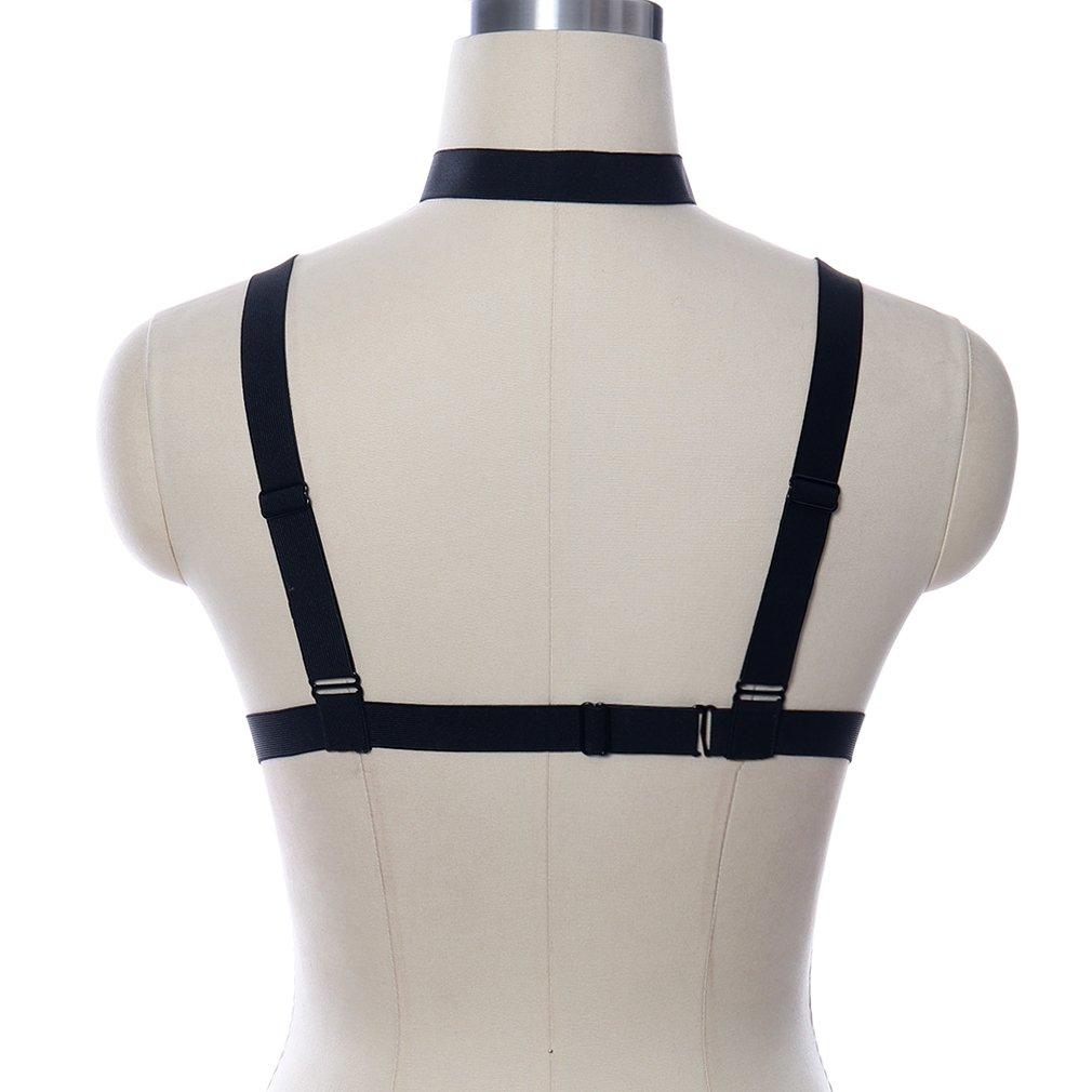 6c8e69c57e BBOHSS Womens Body Harness Cage Bra Goth Strappy Tops Black Bondage Lingerie