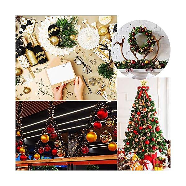 WELLXUNK Palline di Natale, 24pcs Albero di Natale Palla Decorazioni, Palline di Natale Opache, Palline di Natale Infrangibili, Palle infrangibili per Decorazioni Natalizie da Appendere (Verde) 4 spesavip