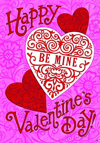 Be mine heart valentine standard size 28 inch x 40 for Custom decor inc