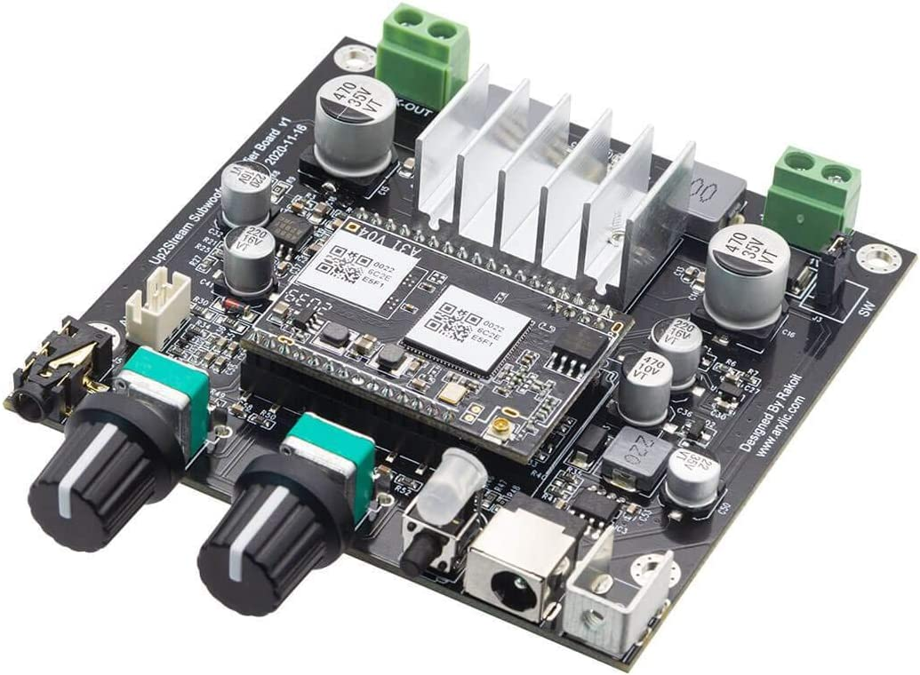Arylic Subwoofer Amplifier Board,WiFi & Bluetooth Home Audio Amplifier Board for DIY Speaker Kit.Wireless Connection Multiroom/multizone Sync Play for Airplay DLNA - Up2stream Amp Sub
