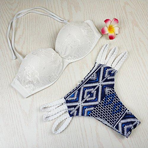 da Beachwear costume costume colore S di Donna intrecciata da Bikini TIANLU dimagrante Set il corda bagno dell'immagine bagno Sexy qat7OU0