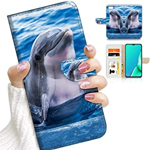 for iPhone 6 Plus, iPhone 6S Plus, Designed Flip Wallet Phone Case Cover, A23037 Cute Dolphin 23037