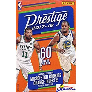 2017/18 Panini Prestige NBA Basketball HUGE 60 Card Factory Sealed HANGER Box with (2) Micro Etch ROOKIES! Look for RC's & AUTOGRAPHS of Donovan Mitchell, Jayson Tatum, Lonzo Ball & More! WOWZZER!
