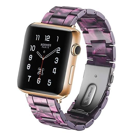 Autulet Compatible con 44 Bandas de Reloj de Apple para S4 Bandas de Iwatch para Muñequera