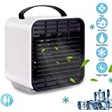 edola Portable Air Conditioner Fan, 5 in 1 USB Evaporative Cooler Personal Mini Air Conditioner Humidifier Purifier Cooler Rechargeable Kids Air Conditioner Fan with LED Light for Home Outdoor Travel