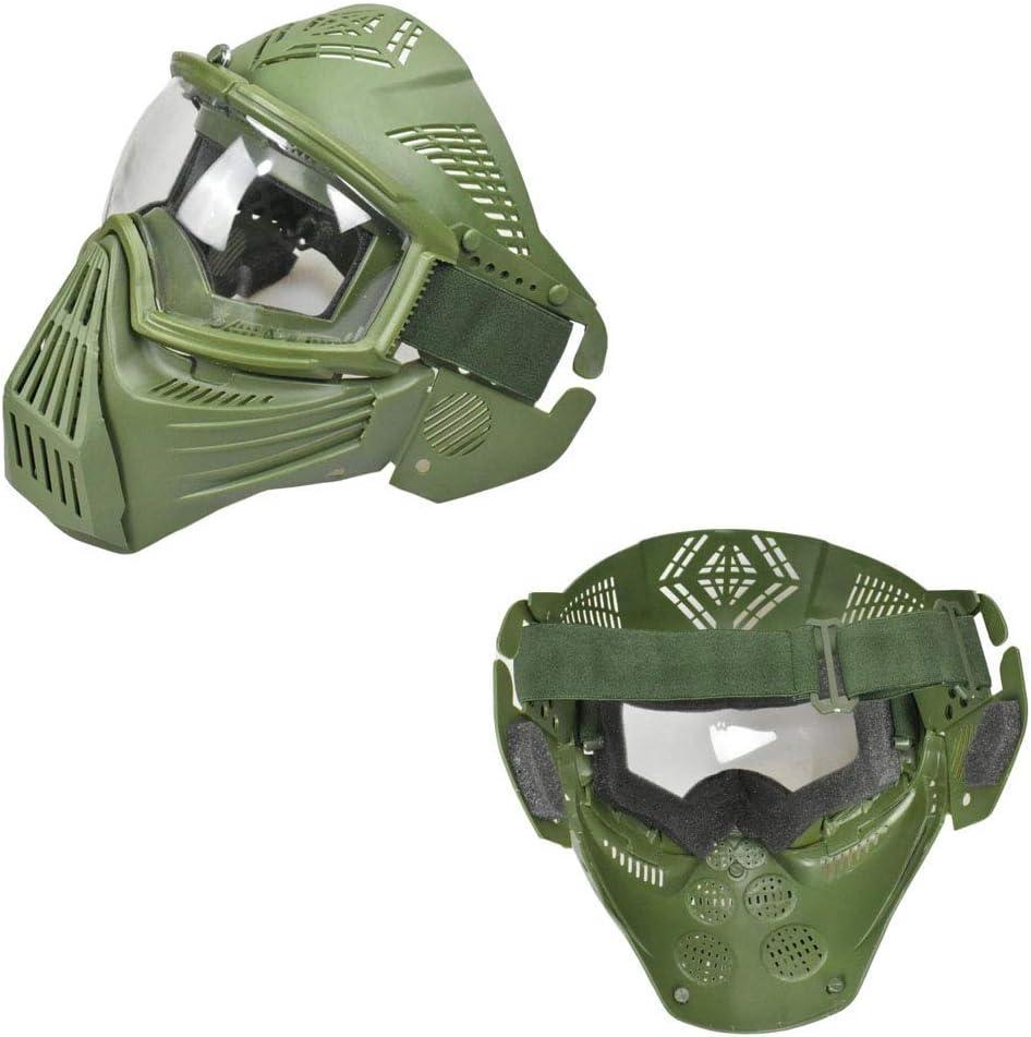 Protection Auditive Masque Tactique Airsoft Et Casque de Paintball Rapide Sangle R/églable Masque Anti-Brouillards Masque Protecteur Complet Pour Masque Anti-Bu/ée /Équipement de Protection Chasse