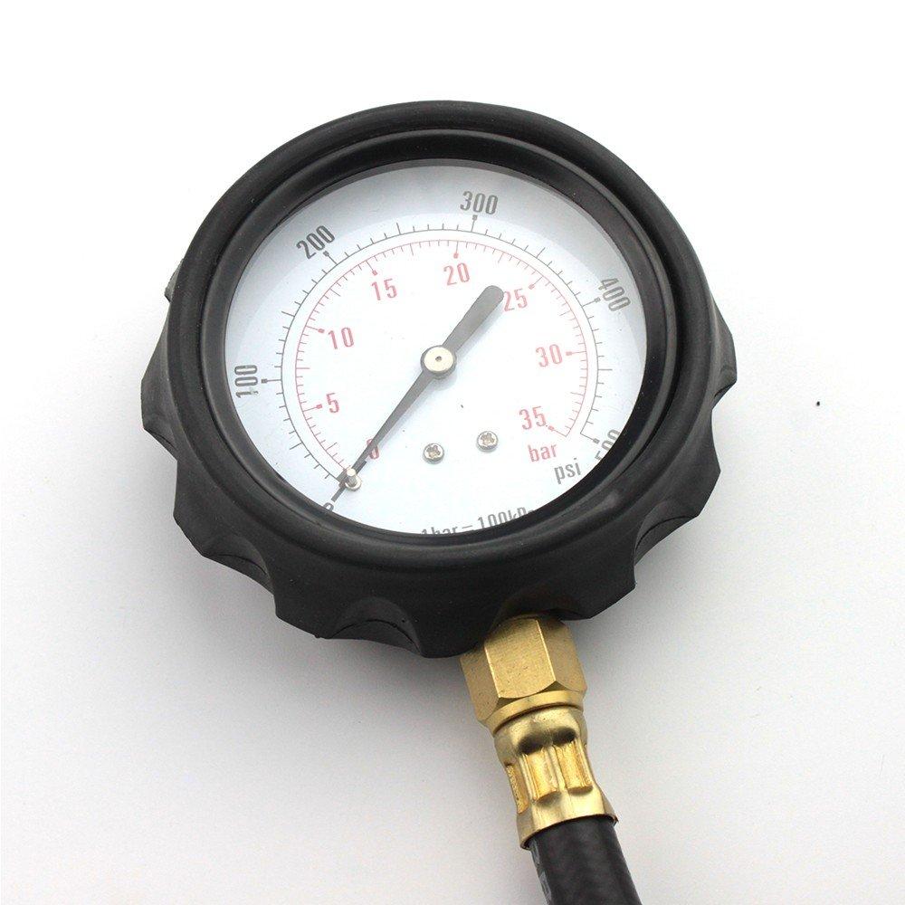 14 piece Engine Oil Pressure Tester Test Gauge Diagnostic Test Tool Set Kit by Jecr (Image #8)