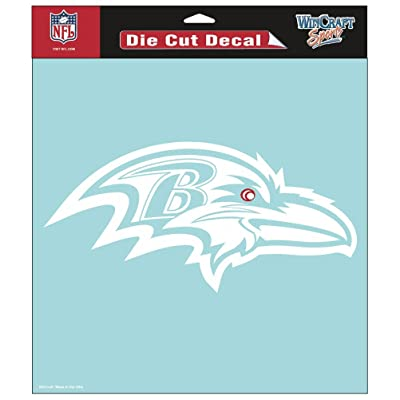"WinCraft NFL Baltimore Ravens WCR25668061 Perfect Cut Decals, 8"" x 8"" : Automotive Decals : Sports & Outdoors"