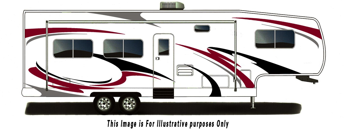 RV, Trailer Hauler, Camper, Motor-home Large Decals/Graphics Kits 28-k-3 DB Graphix